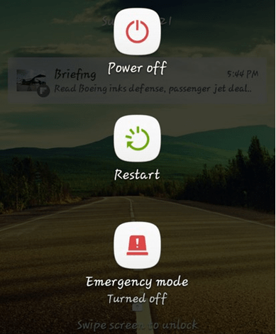 how to turn off safe mode in Android device - reboot