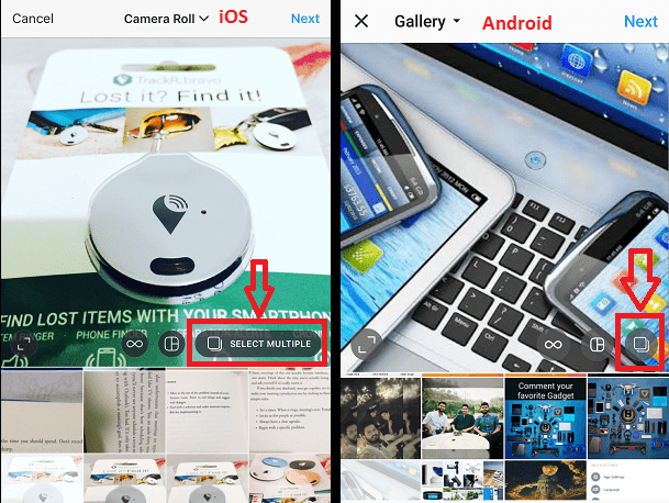 Create Instagram Gallery Post