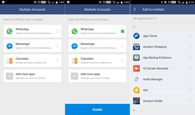 8 Best Parallel Space Alternative Apps To Manage Multiple Accounts