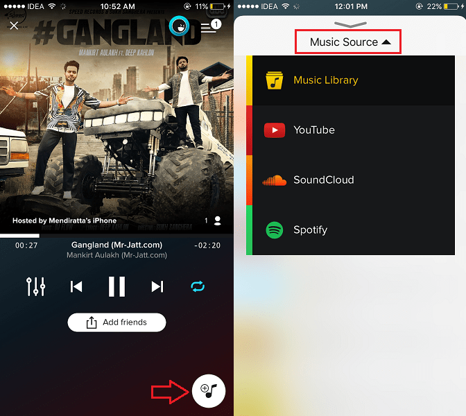 Add Music to your party AmpMe