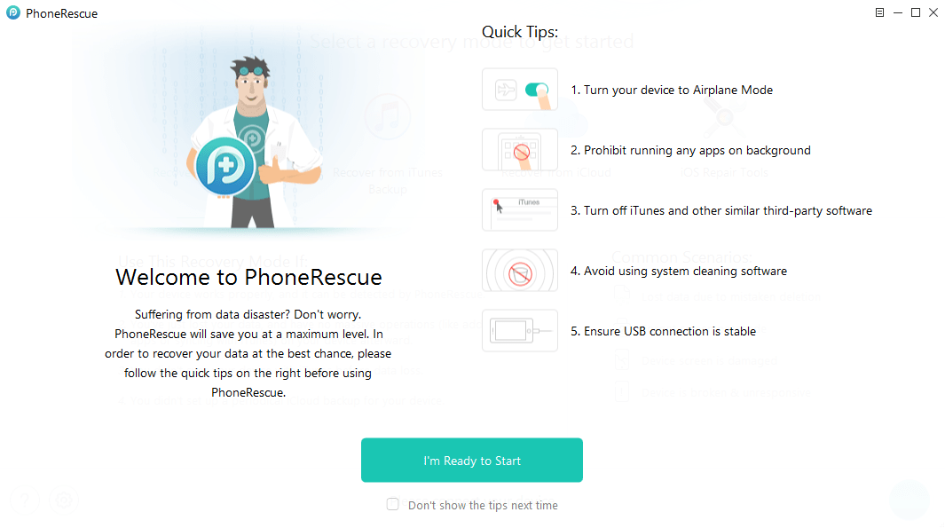 PhoneRescue iOS Tips