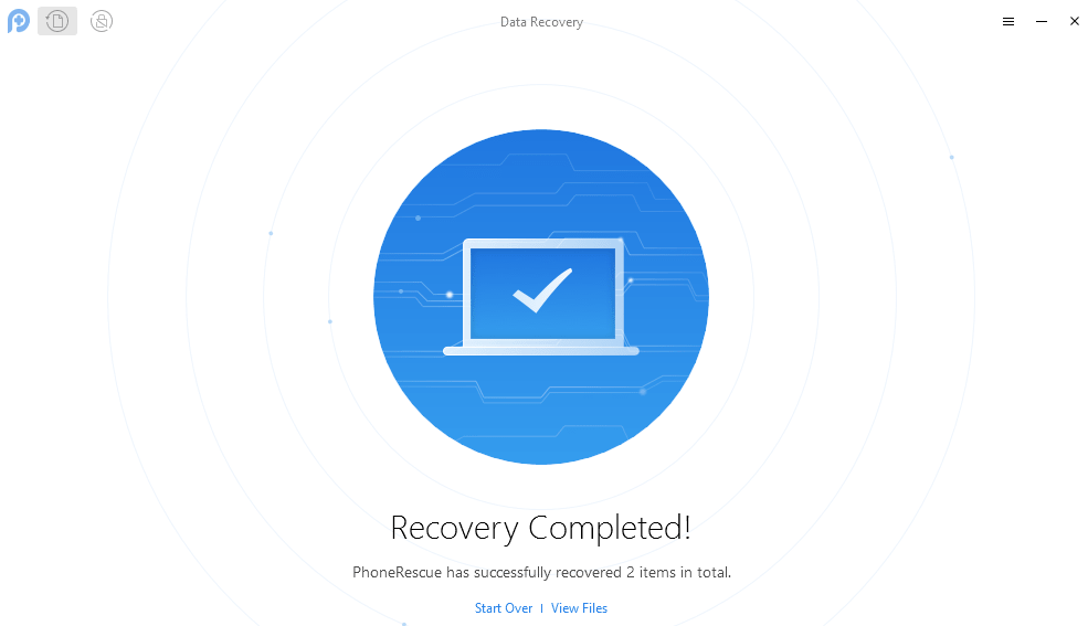 Recovery Successful PhoneRescue Android