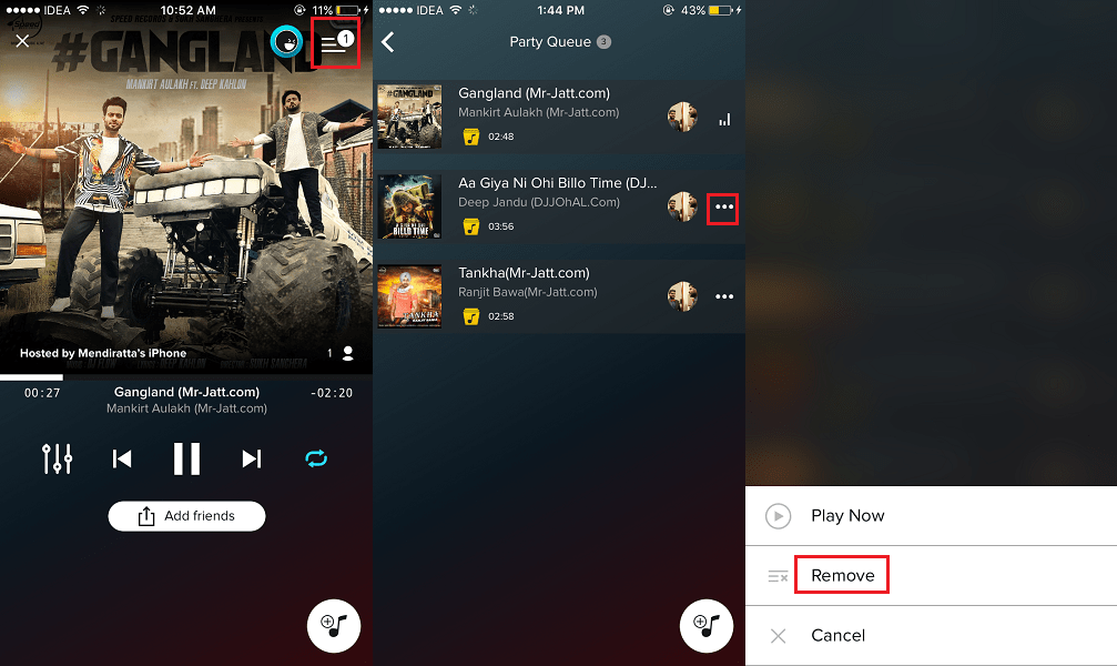 Remove Songs from your Party Playlist AmpMe