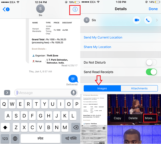 Save iMessage Photos to Camera Roll on iPhone or iPad