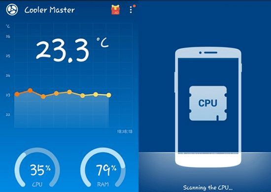 best cooling apps for Android phone -cooler master