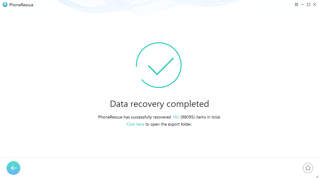 iOS Data recovery successful - PhoneRescue