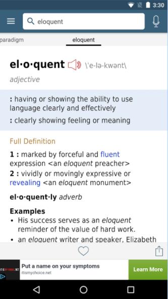 App to improve vocabulary - Merriam-Webster