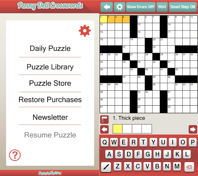 Best Vocabulary Apps - Penny Dell Crosswords