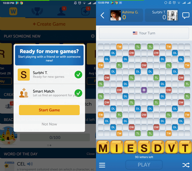 Best Vocabulary app - Words with Friends