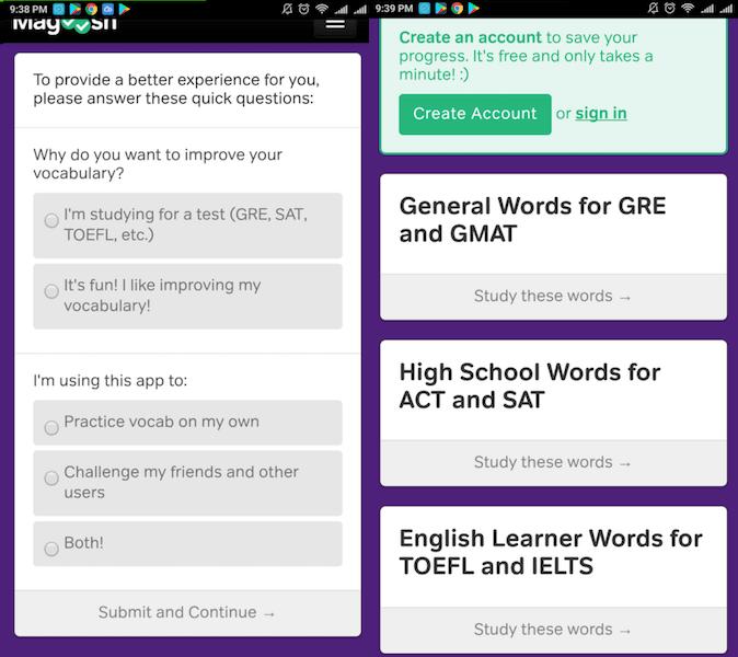 Magoosh Vocabulary Builder app