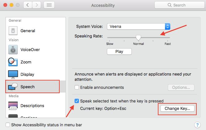Text to Speech on MacBook