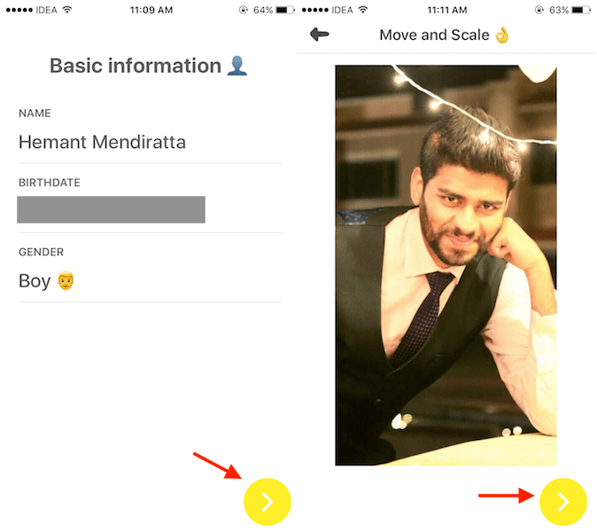 Yellow app basic information