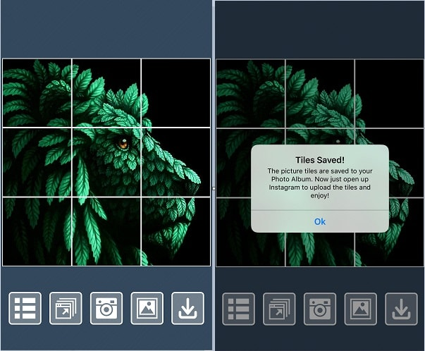apps for instagram grid view - tiles
