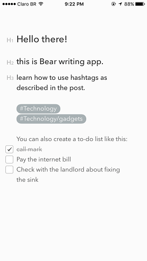 bear vs evernote -bear