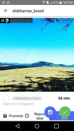 insta repost for instagram