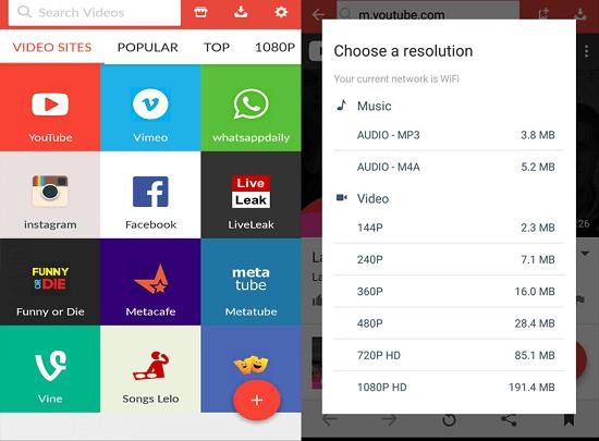 apps like tubemate - snaptube