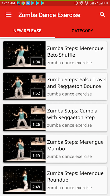 Dance Learning apps - Zumba Dance Exercise