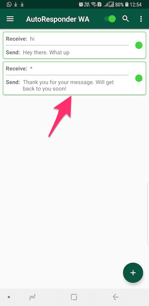 Edit Rule - WhatsApp auto reply bot