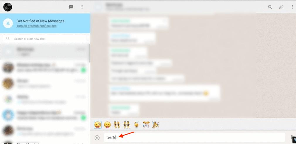Emojis search on WhatsApp Desktop and Web