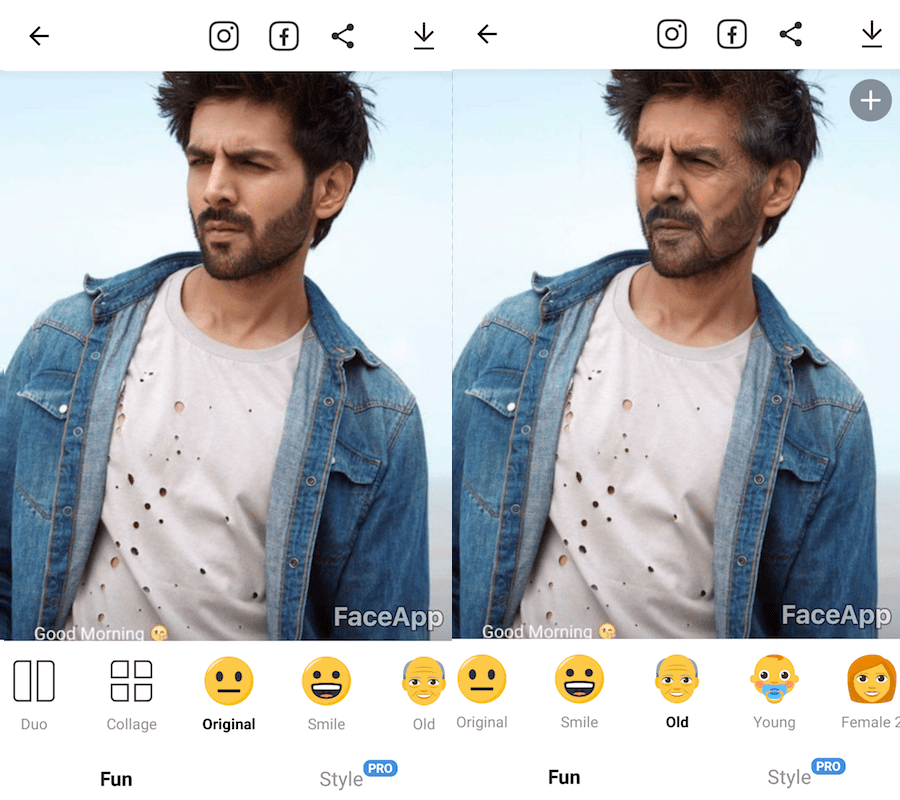Best Face Changing apps - FaceApp