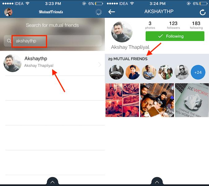 Find Mutual Friends on Instagram