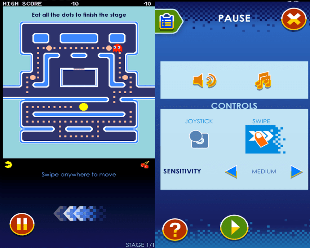 PAC-MAN app for Android and iOS