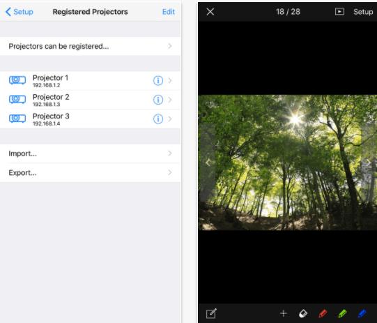 Panasonic Wireless Projector app