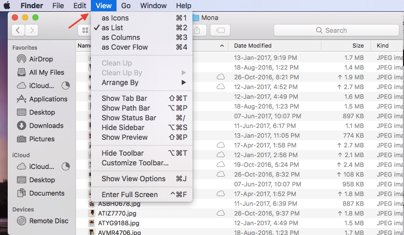 Select multiple files on Mac with keyboard