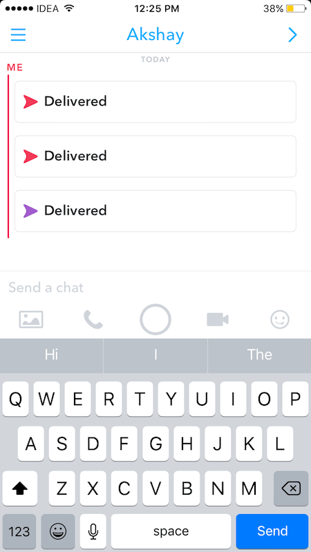 how to send multiple pictures on snapchat at once to one person