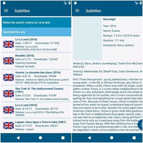 subtitle apps for android and iphone - gtmsubs