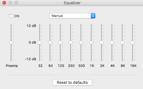 Audio Equalizer - ElMedia Player