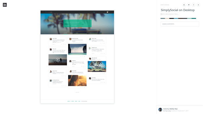 Desktop template SimplySocial