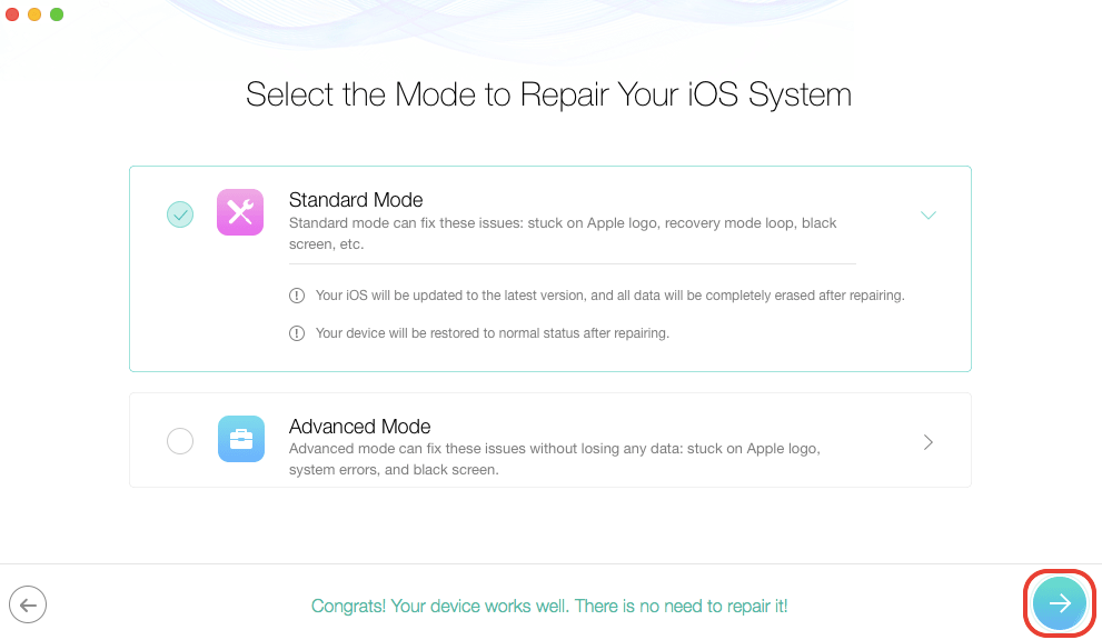Fix iOS 11 update issues