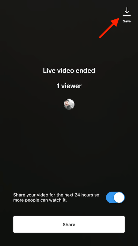Save your own Instagram live