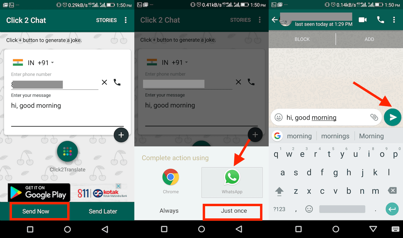 How To Send WhatsApp Message Without Saving Number On iPhone and