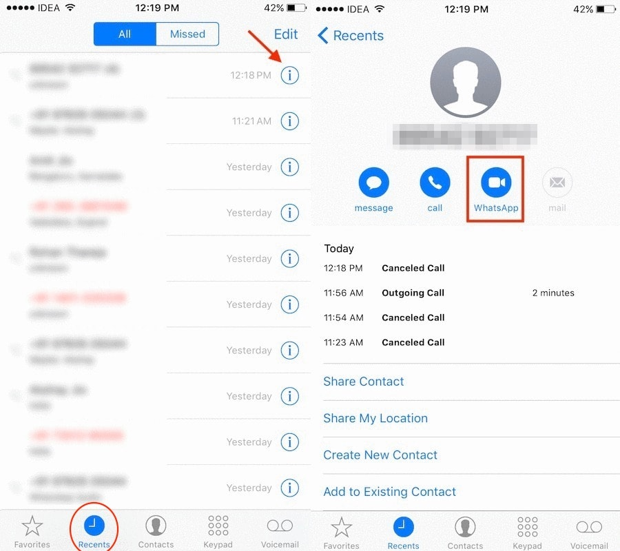 Send WhatsApp message without saving number iPhone