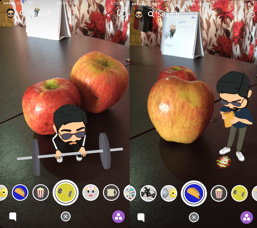 Add Animated Bitmoji to Snaps on Snapchat