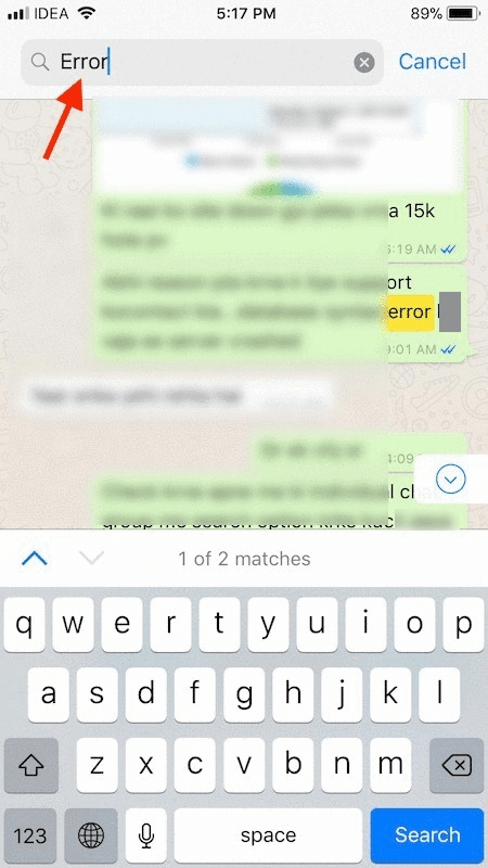 Search Messages Within Specific Chats on WhatsApp