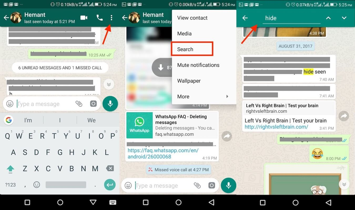 Search Specific WhatsApp Chats or Groups on Android