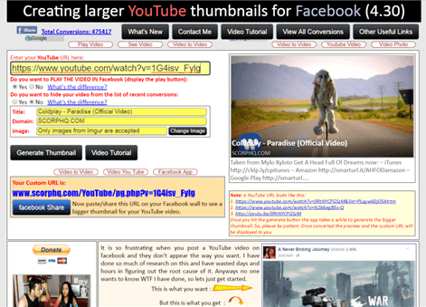 sites like yt2fb - scorphq