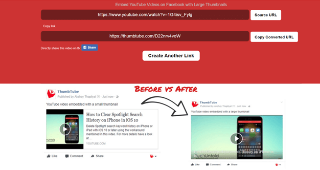yt2fb alternative -thumbtube