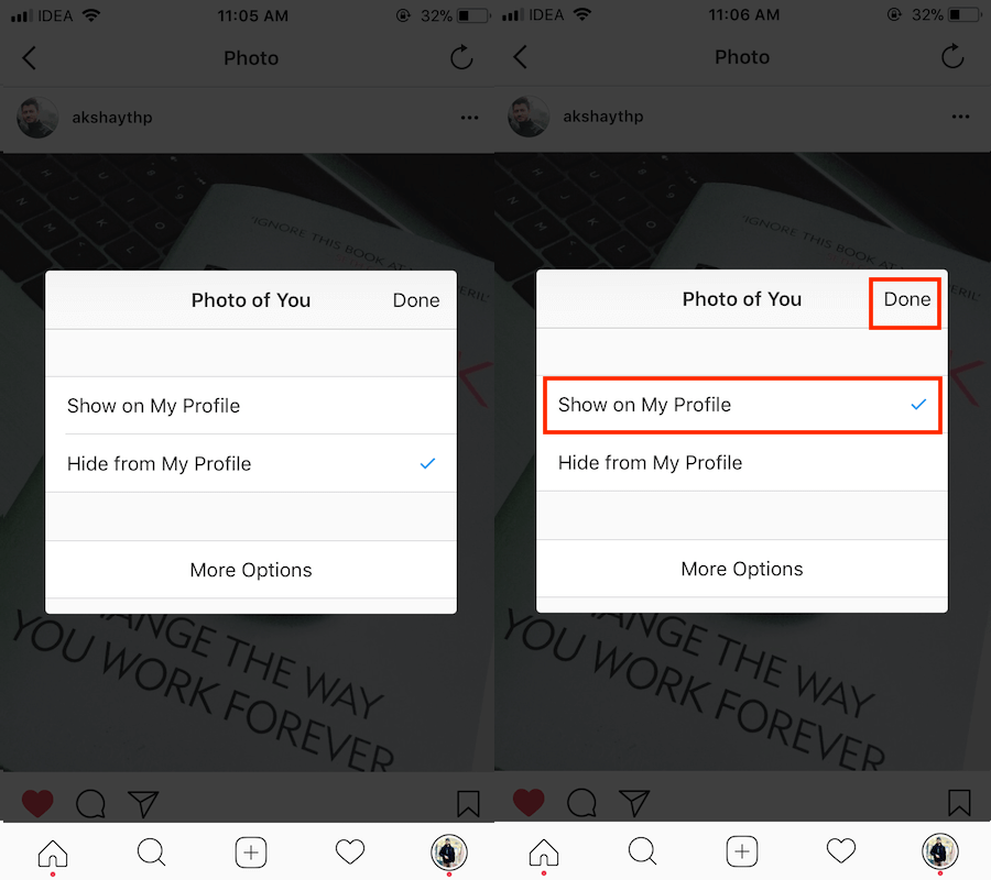 how to unhide photos you're tagged in on instagram