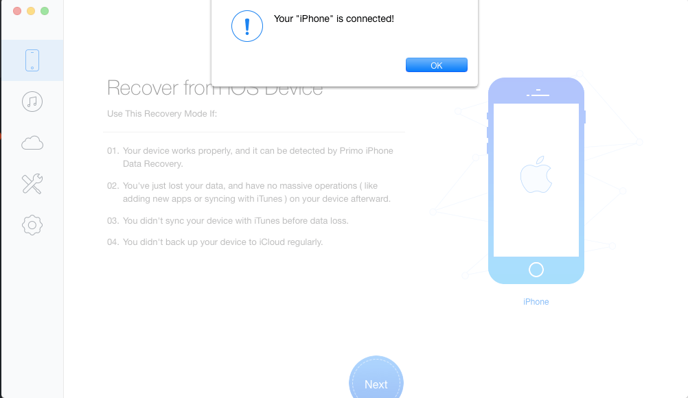 iPhone connected to computer