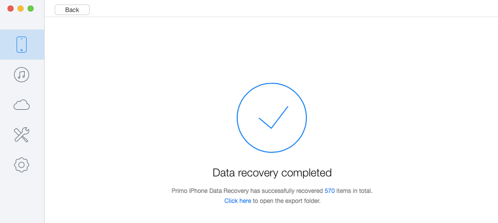 iPhone data recovery successful