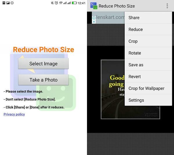 reduce photo size