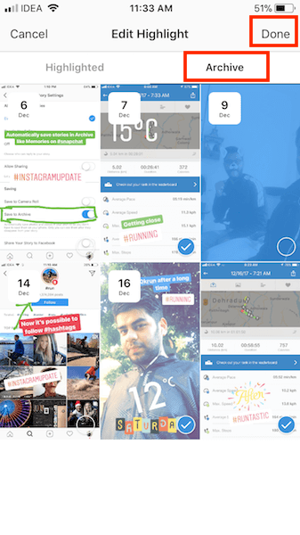 Add or Delete photos/videos to/from stories highlight on Instagram
