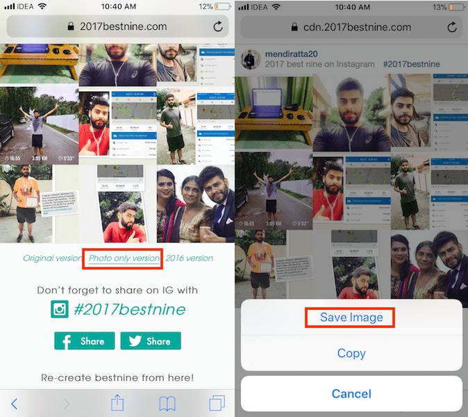 Get Best Nine Photo Collage on Instagram