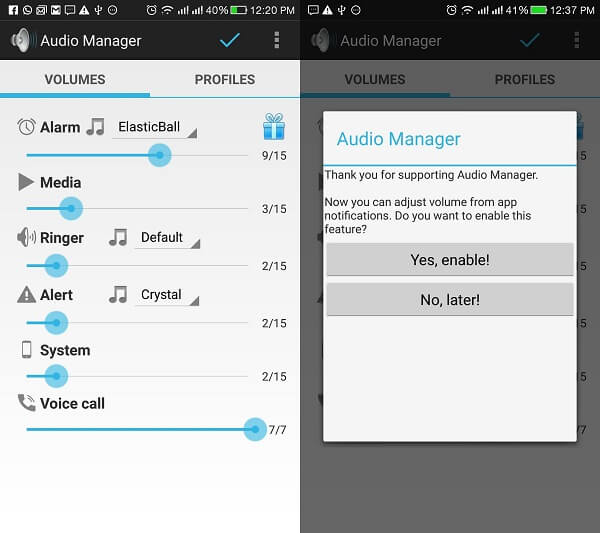 audio manager by aeh