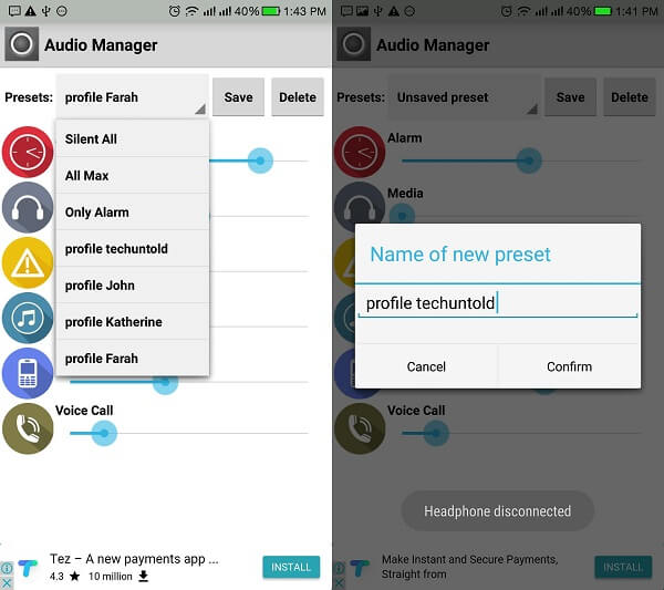 audio manager by lucas