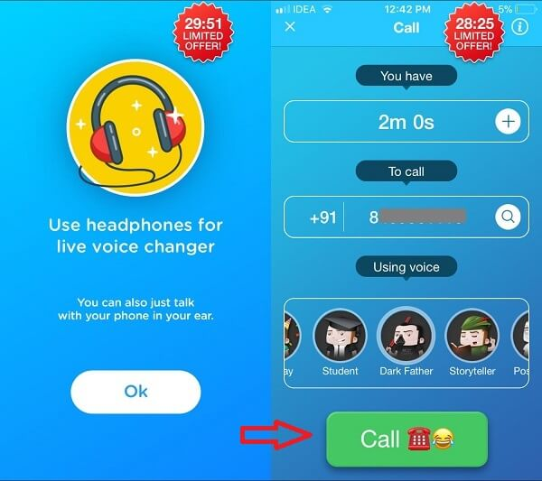 change voice on iphone call